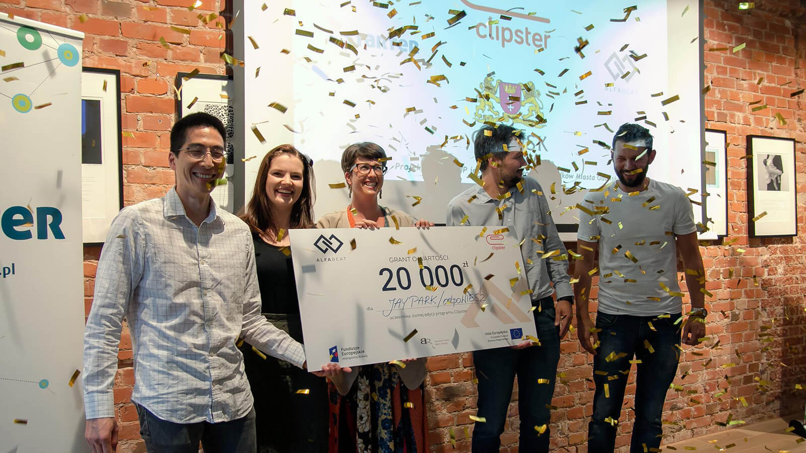 Jay Park, founder of the live game show app, odpoWIESZ, the Polish equivalent to HQ Trivia, winner of the 20,000PLN grant for best start-up at Clipster.